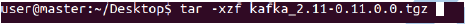 Untar using this command