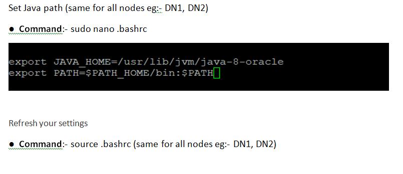 Multinode Hadoop cluster setup