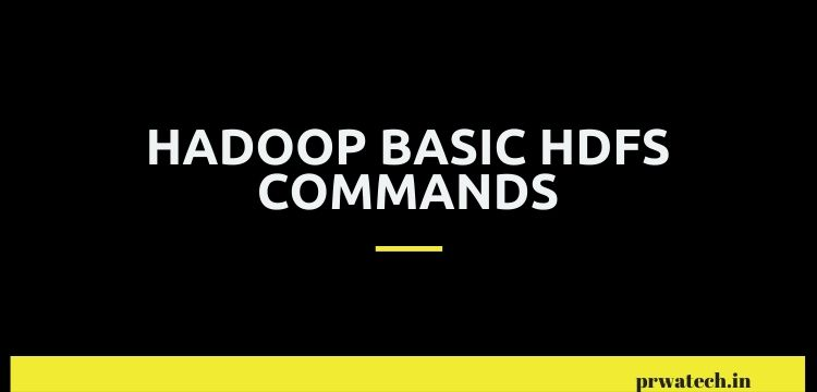 Hadoop Basic HDFS Commands
