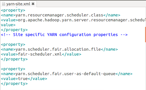 Hadoop fair scheduler Example