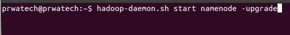 Hadoop cluster upgrade - upgrade namemode
