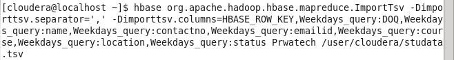 Hadoop HBase Testcase 3