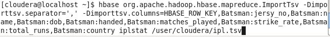 Hadoop HBase testcase 2