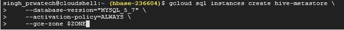 GCP Hadoop Hive