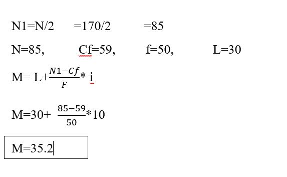 measures of central tendency example_continous series