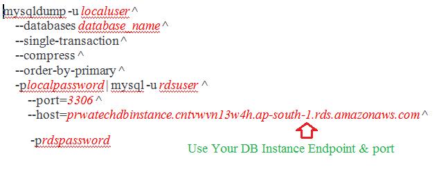 Import Data from a MySQL DB to an Amazon RDS MySQL DB Instance