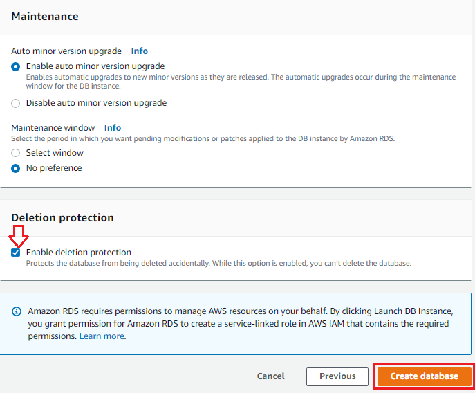Aws Rds User Permissions