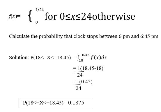 Probability density function example