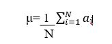 sample mean and population mean formula