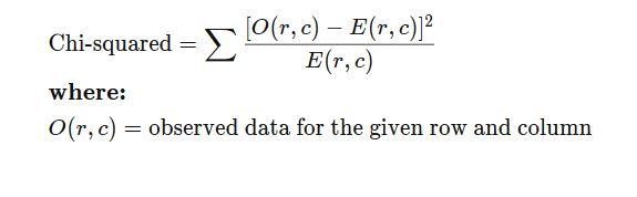 chi square statistics formula