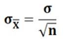 Standard deviation of the sample mean