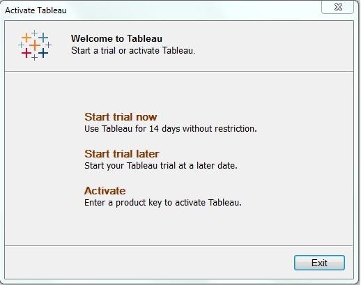 Tableau Server Installation Steps_start trail version