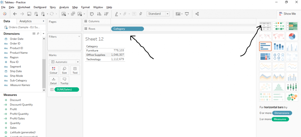 How to Create Text Table in Tableau