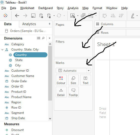 How to use Tableau_page and filters