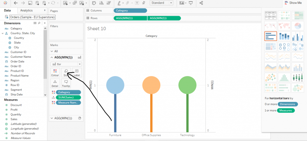 How to create a Pie Chart in Tableau
