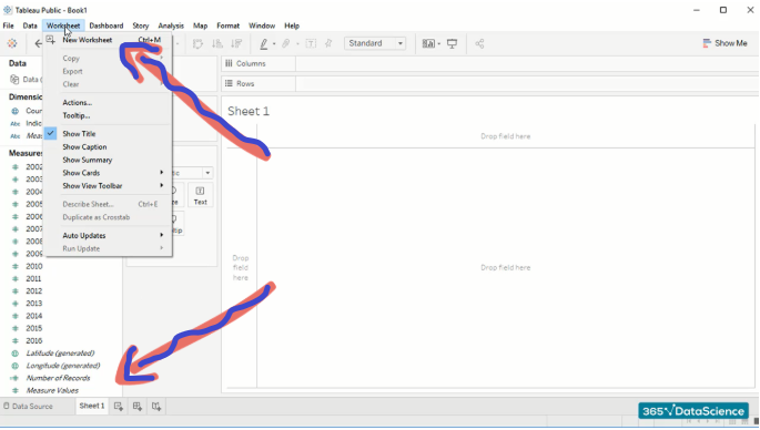 How to use Tableau_worksheet