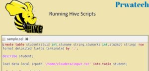 How to run Hive scripts