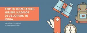 Top 10 companies hiring Hadoop developers in india